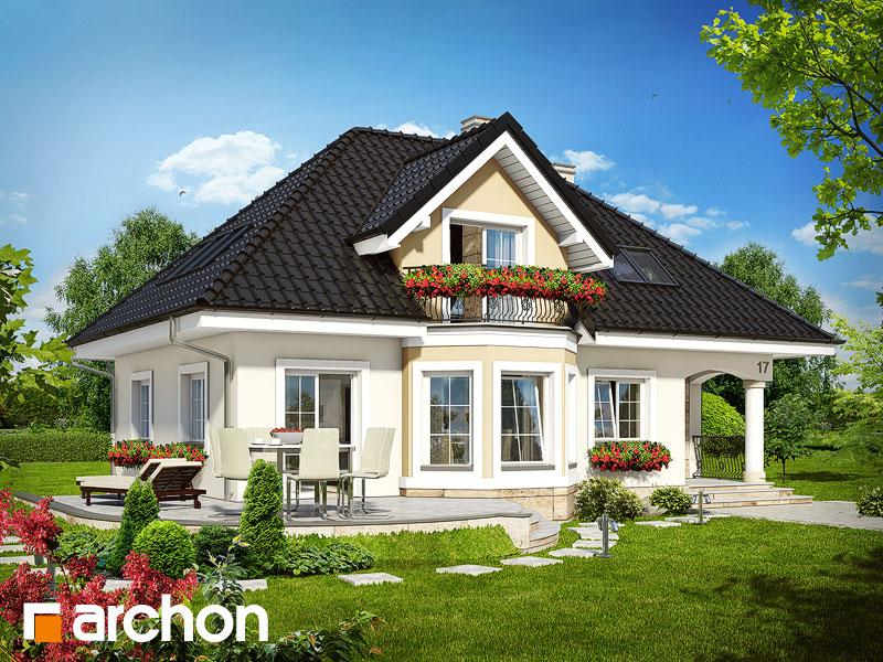 Проект дома ARCHON+ Дом в авокадо - Визуализация 2
