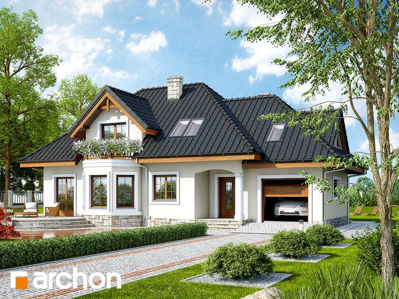 Проект дома ARCHON+ Дом в авокадо (Г) - Визуализация 1