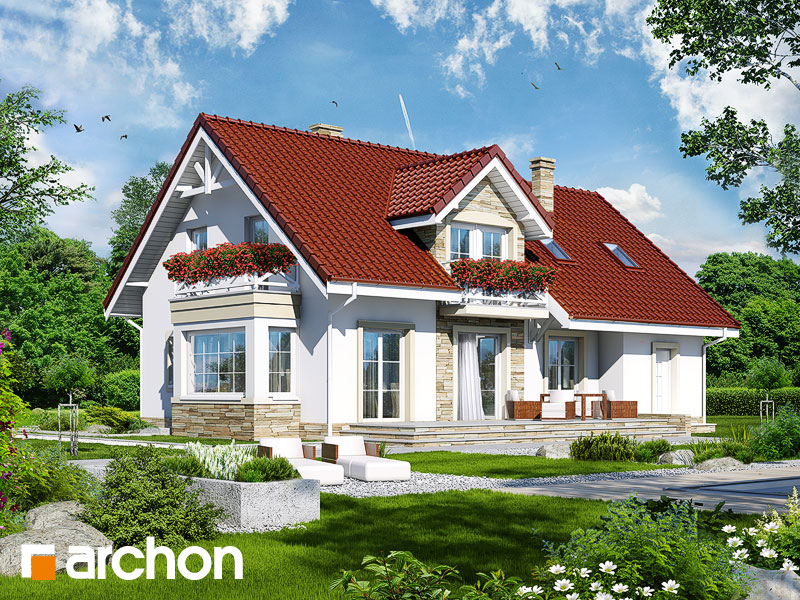 Проект дома ARCHON+ Дом в сезаме - Визуализация 2