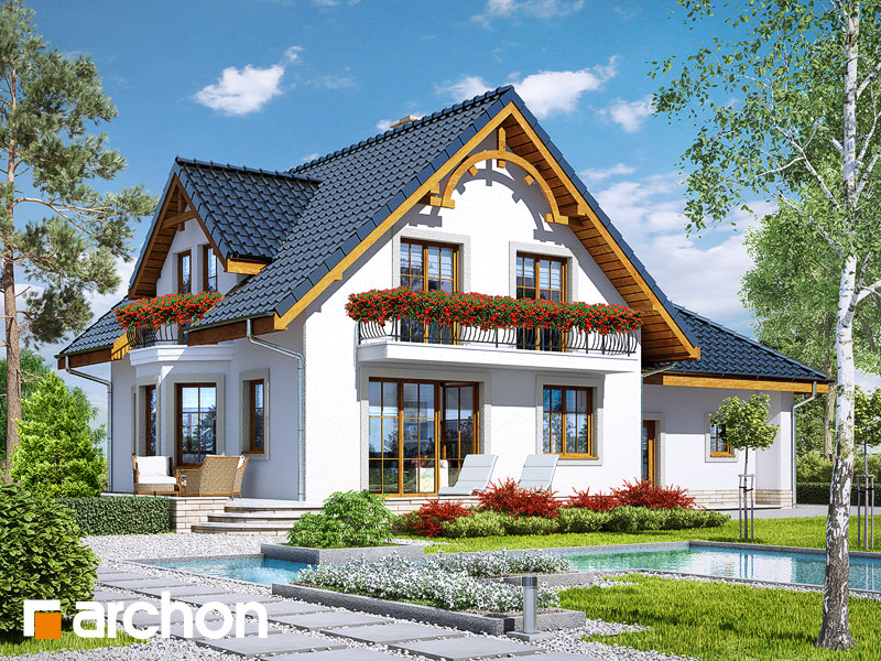 Проект дома ARCHON+ Дом в тамарисках 2 (Г2) - Визуализация 2
