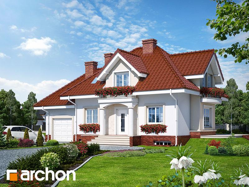 Проект дома ARCHON+ Дом в вербене (П) - Визуализация 1