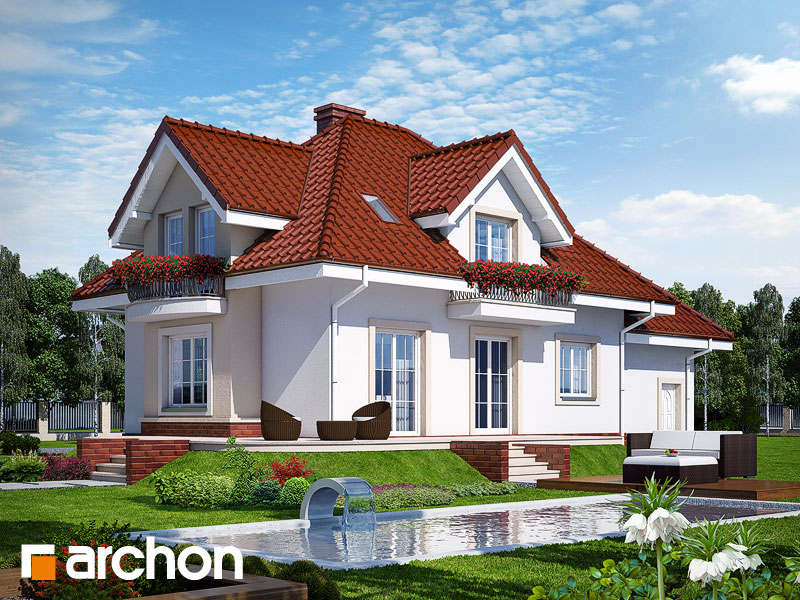Проект дома ARCHON+ Дом в вербене (П) - Визуализация 2