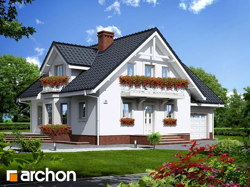 Проект дома ARCHON+ Дом в рододендронах 5 (П) - Визуализация 1