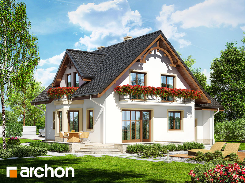 Проект дома ARCHON+ Дом в тамарисках 2 (П) - Визуализация 2