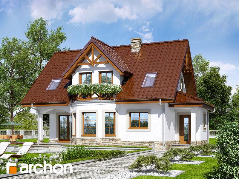 Проект дома ARCHON+ Дом в клюкве (П) - Визуализация 1