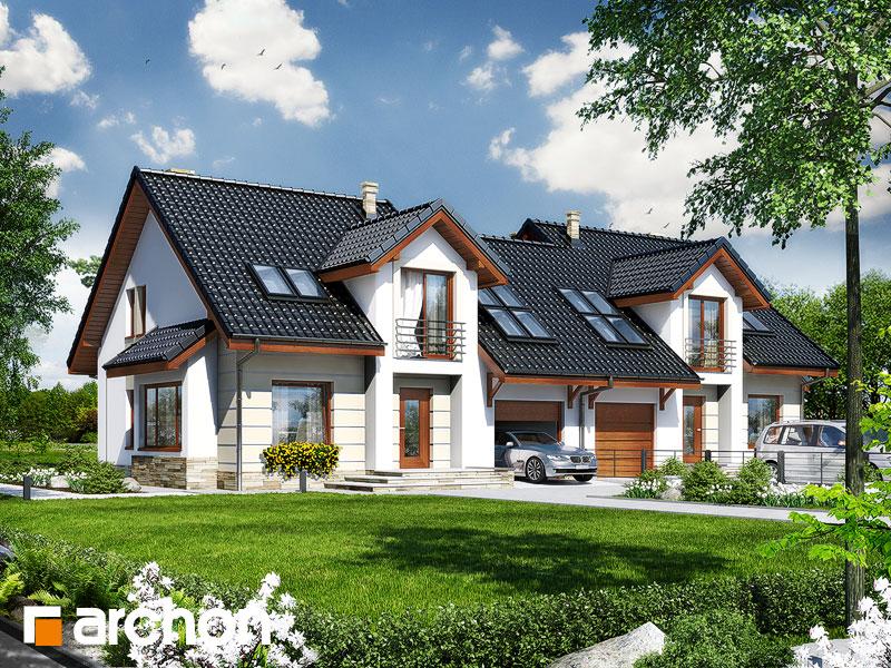 Проект дома ARCHON+ Дом в ревене (Б) - Визуализация 1