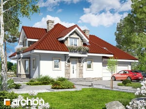 Проект дома ARCHON+ Дом в нектаринах (Г2)