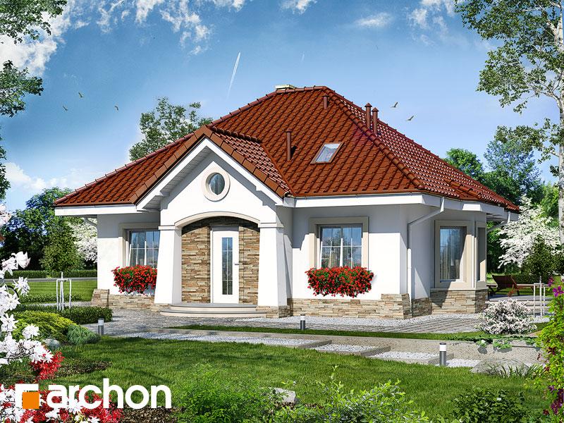 Проект дома ARCHON+ Дом в лотосах (М) - Визуализация 1
