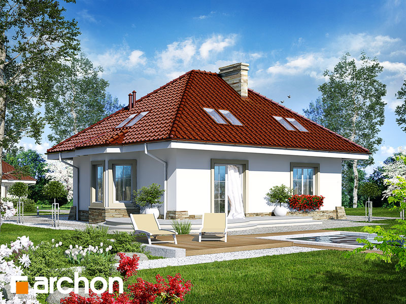 Проект дома ARCHON+ Дом в лотосах (М) - Визуализация 2