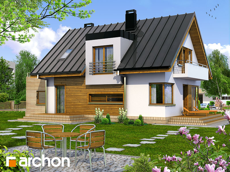 Проект дома ARCHON+ Дом в амариллисах - Визуализация 2