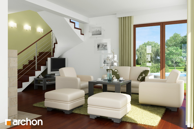 Проект дома ARCHON+ Дом в амариллисах - Интерьеры