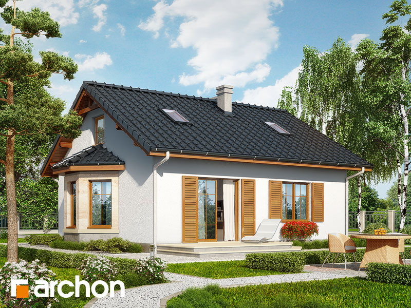 Проект дома ARCHON+ Дом в ягодах (М) - Визуализация 2