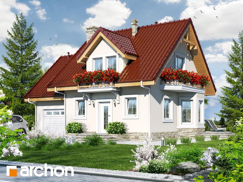 Проект дома ARCHON+ Дом в винограде 4 - Визуализация 1
