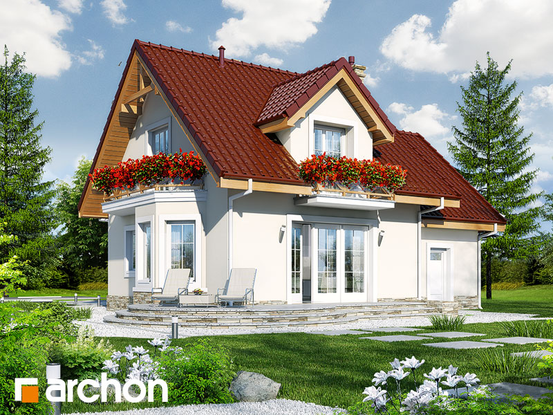 Проект дома ARCHON+ Дом в винограде 4 - Визуализация 2