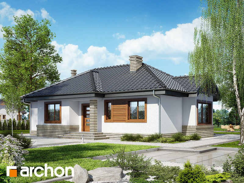 Проект дома ARCHON+ Дом в вереске - Визуализация 1