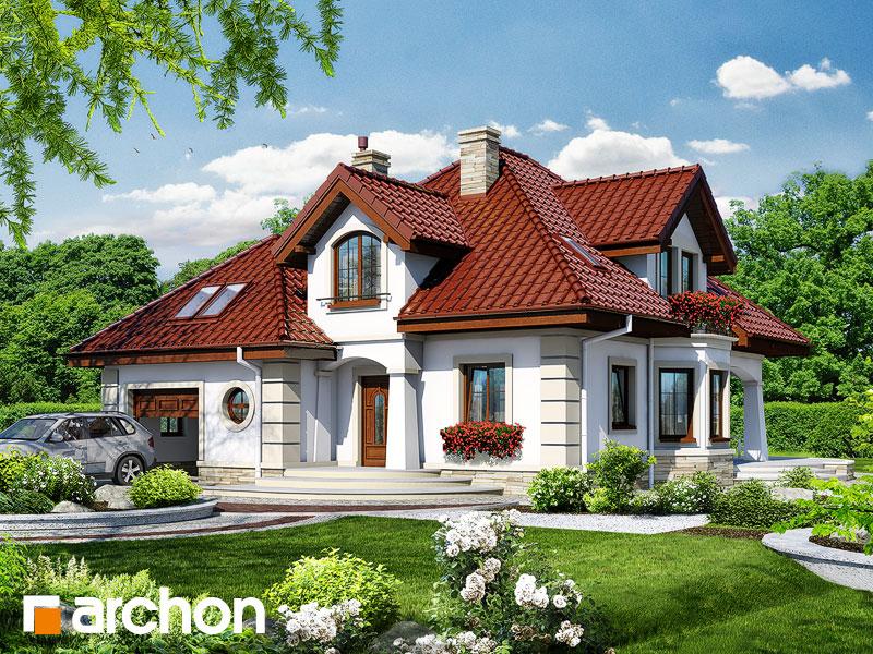 Проект дома ARCHON+ Дом под туями - Визуализация 1
