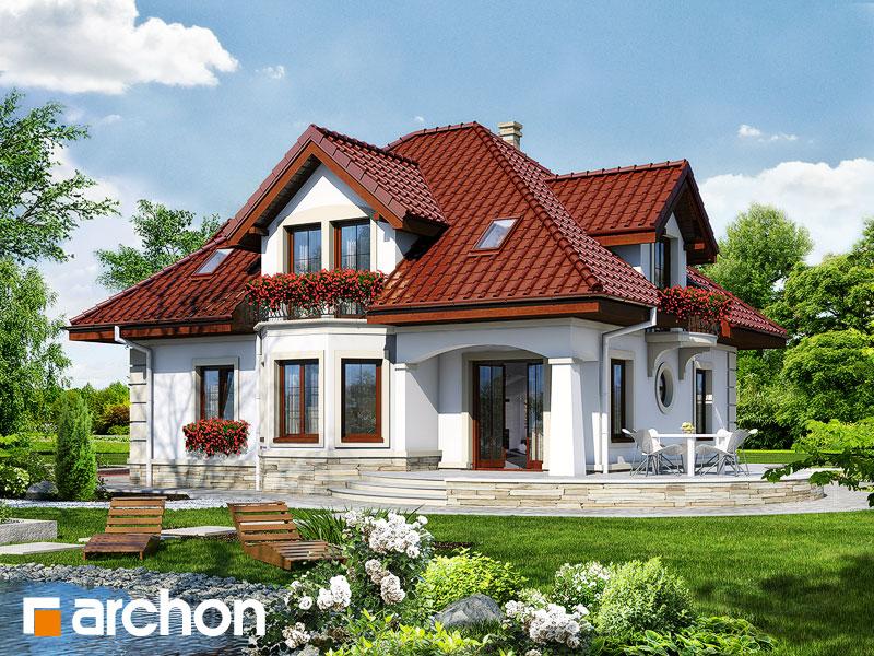 Проект дома ARCHON+ Дом под туями - Визуализация 2