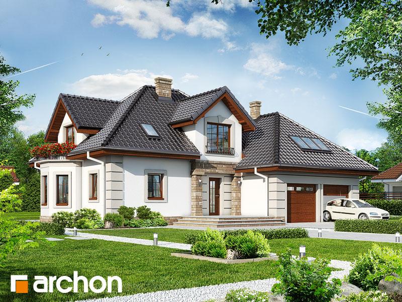 Проект дома ARCHON+ Дом в нектаринах 3 - Визуализация 1