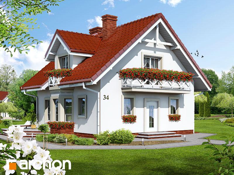 Проект дома ARCHON+ Дом в рододендронах (П) - Визуализация 1