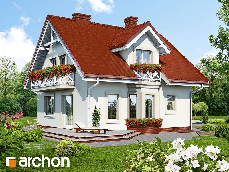 Проект дома ARCHON+ Дом в рододендронах (П) - Визуализация 2