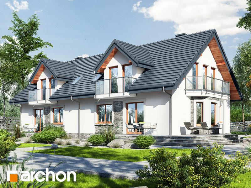 Проект дома ARCHON+ Дом в рододендронах 10 - Визуализация 1