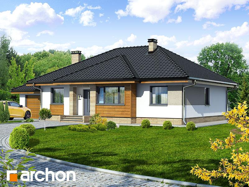 Проект дома ARCHON+ Дом в акебиях - Визуализация 1