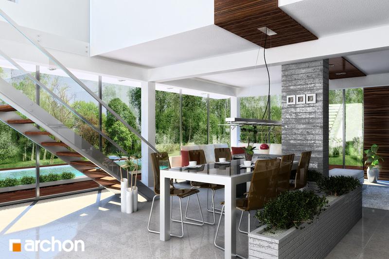 Проект дома ARCHON+ Дом в караганах - Интерьеры