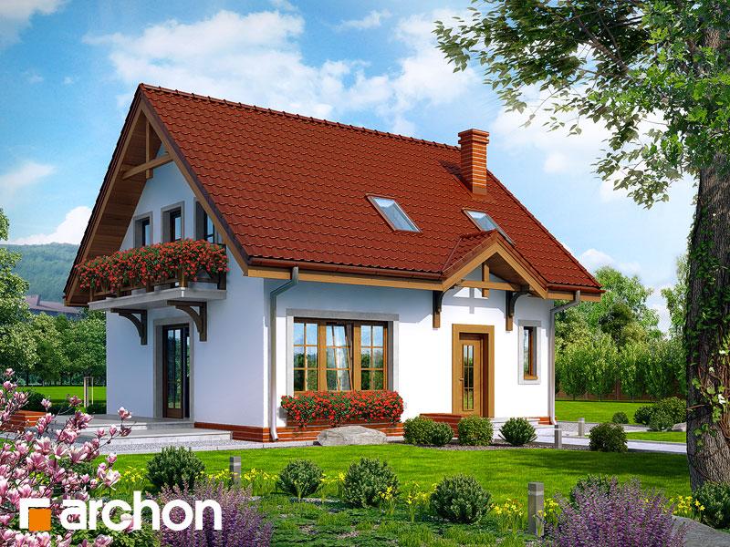 Проект дома ARCHON+ Дом в землянике 5 - Визуализация 1
