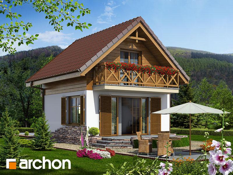 Проект дома ARCHON+ Летний домик в крокусах - Визуализация 1