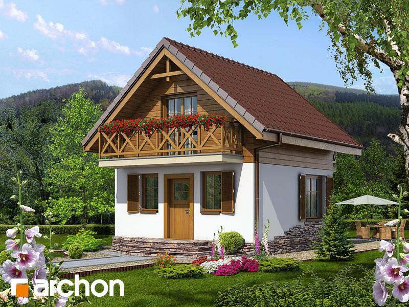 Проект дома ARCHON+ Летний домик в крокусах - Визуализация 2