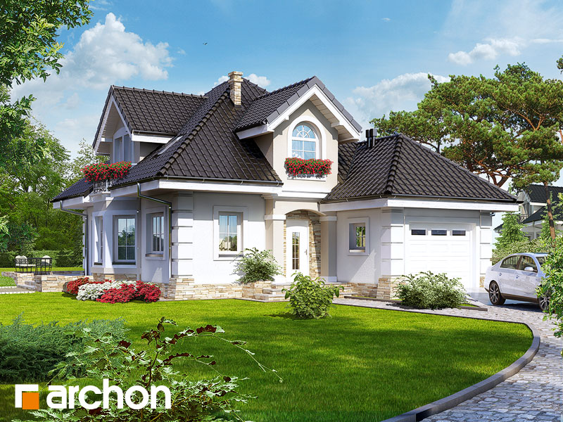 Проект дома ARCHON+ Дом в рукколе - Визуализация 1