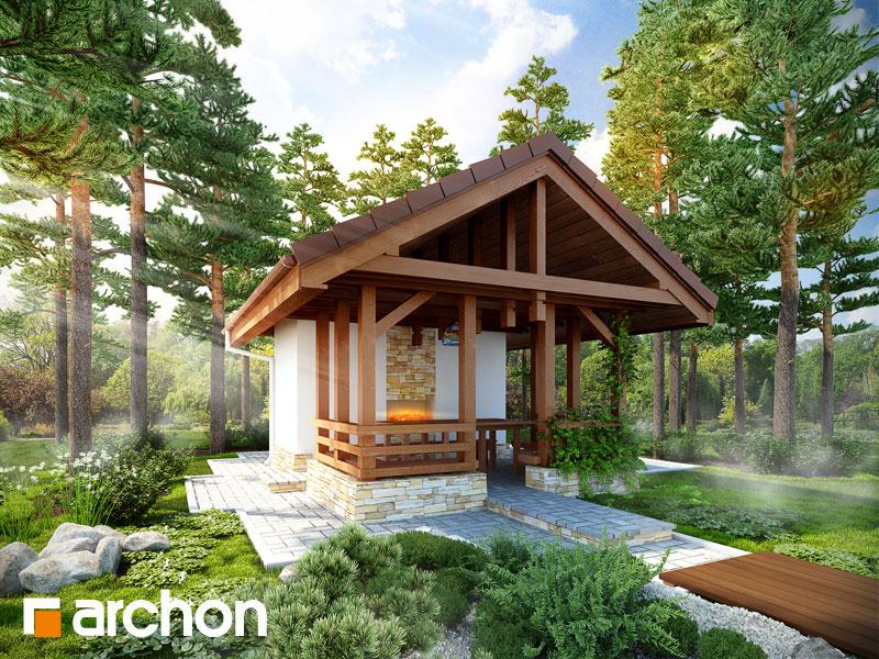 Проект дома ARCHON+ Беседка A3 - Визуализация 1