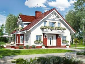 Проект дома ARCHON+ Дом в геликониях (П)