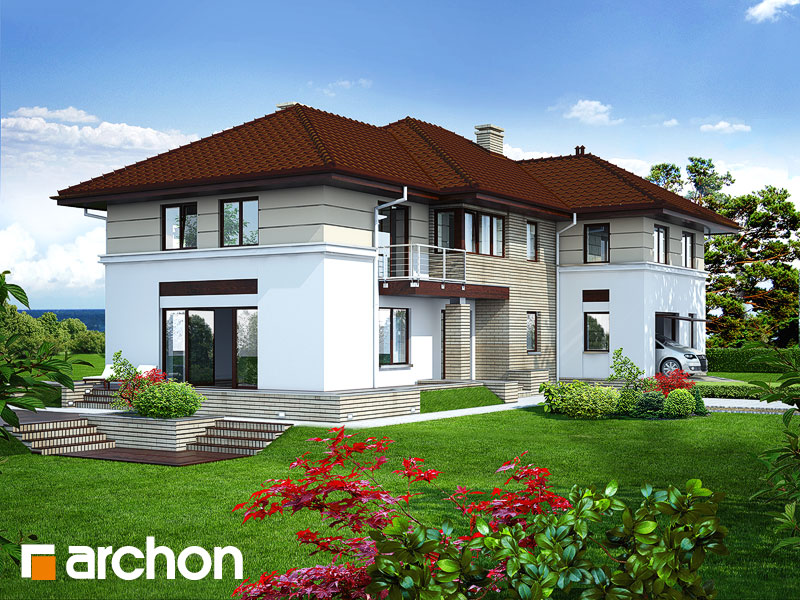 Проект дома ARCHON+ Вилла Приморская - Визуализация 1