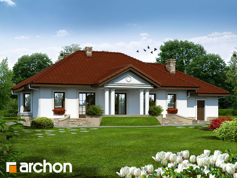 Проект дома ARCHON+ Дом в гаурах - Визуализация 1