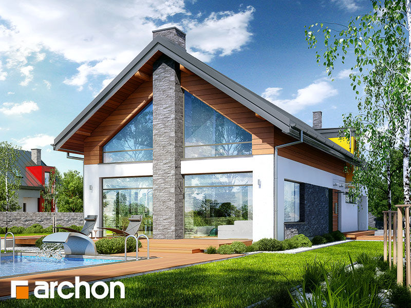 Проект дома ARCHON+ Дом в лаврах - Визуализация 1