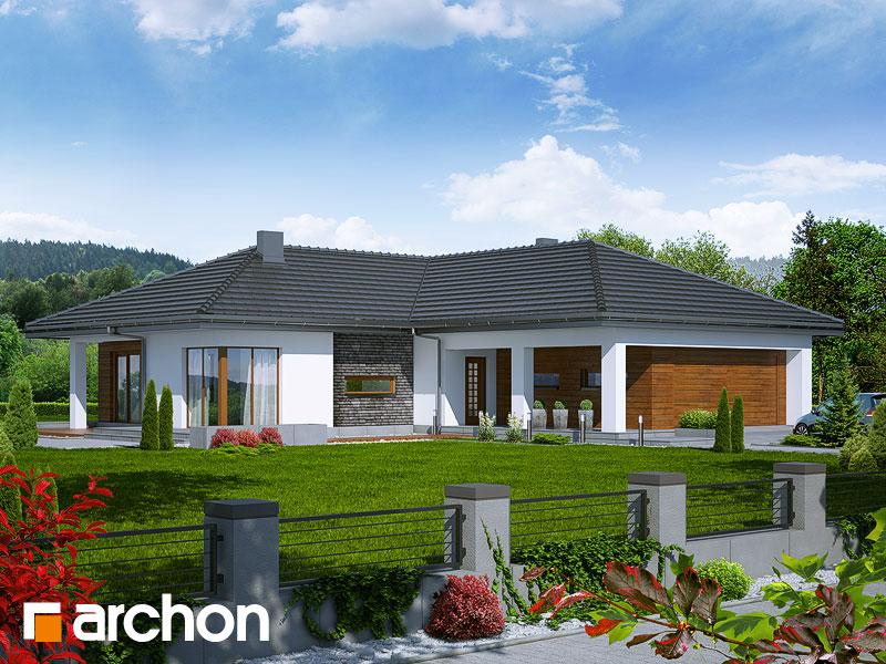 Проект дома ARCHON+ Дом под какао - Визуализация 1