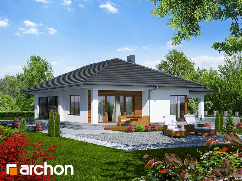 Проект дома ARCHON+ Дом под какао - Визуализация 2