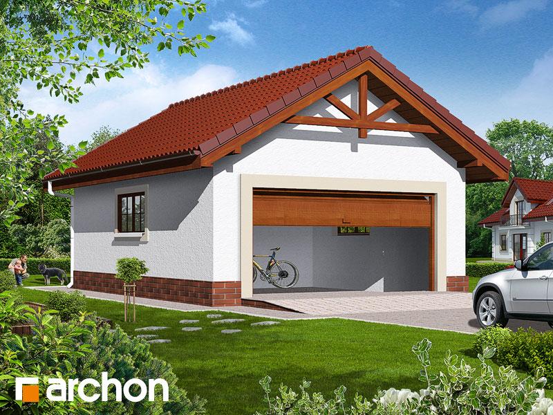 Проект дома ARCHON+ Г6б - Двухместный гараж - Визуализация 1