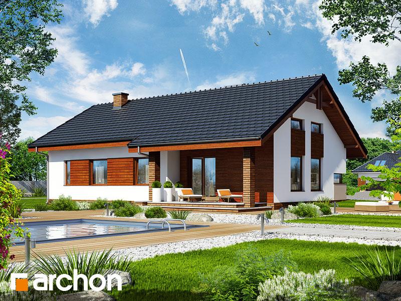 Проект дома ARCHON+ Дом в палисандрах - Визуализация 1