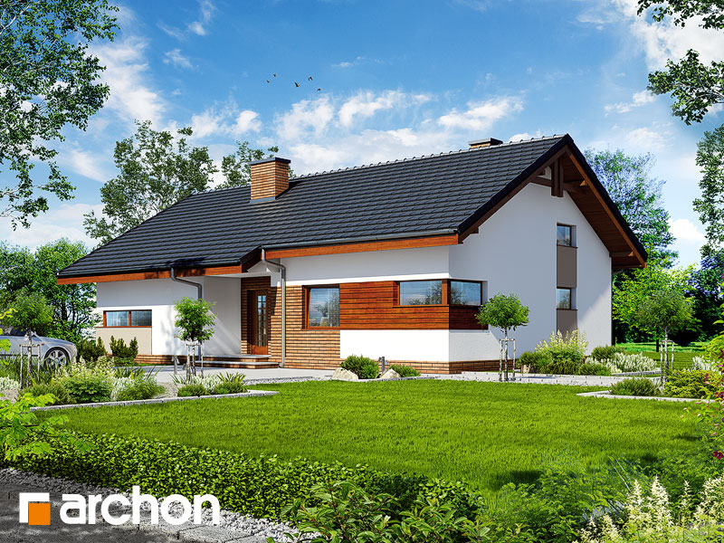 Проект дома ARCHON+ Дом в палисандрах - Визуализация 2