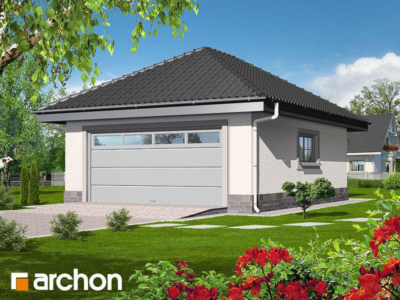 Проект дома ARCHON+ Г1а - Двухместный гараж - Визуализация 1