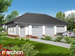 Проект дома ARCHON+ Г3a - Трехместный гараж