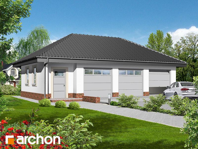 Проект дома ARCHON+ Г3a - Трехместный гараж - Визуализация 1