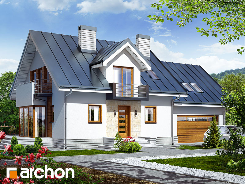 Дом в рододендронах 6 (Г2Н) - Визуализация 1