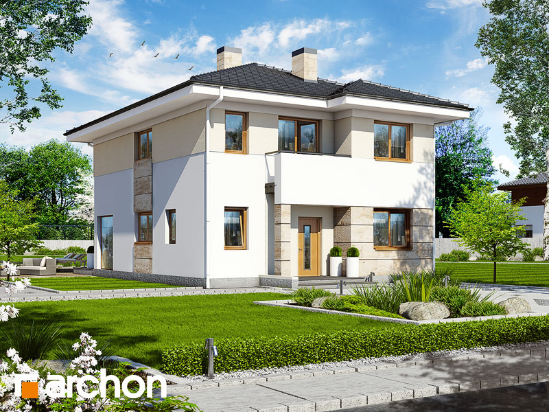 Проект дома ARCHON+ Вилла Юлия 2 - Визуализация 1