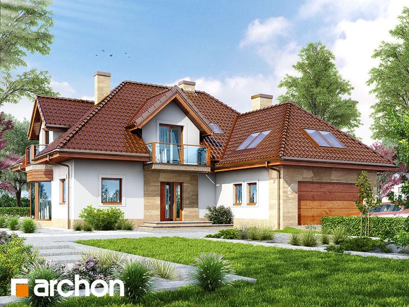 Проект дома ARCHON+ Дом в георгиниях - Визуализация 1