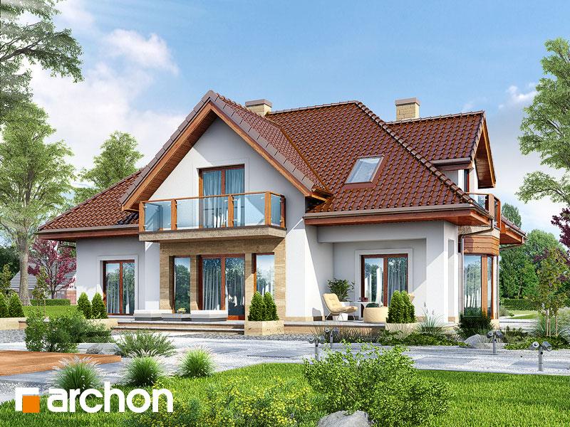 Проект дома ARCHON+ Дом в георгиниях - Визуализация 2