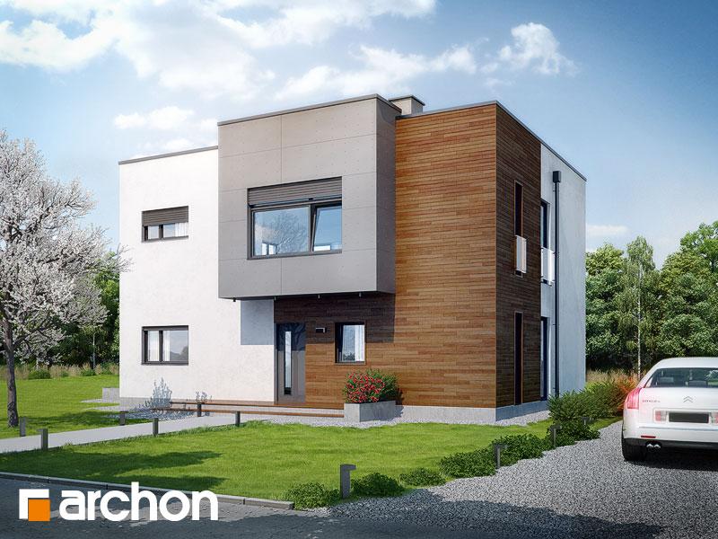 Проект дома ARCHON+ Дом в кротонах - Визуализация 1