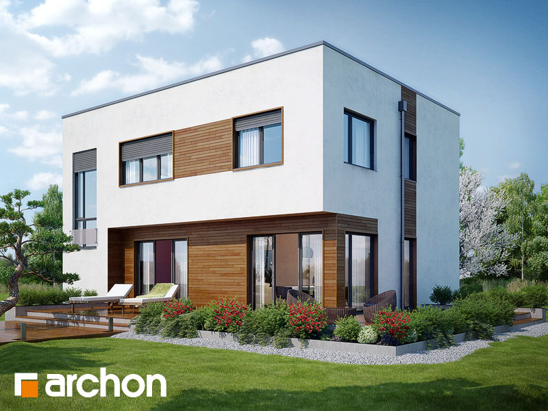 Проект дома ARCHON+ Дом в кротонах - Визуализация 2